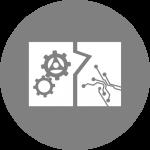 Mechanische und mechatronische Baugruppen Icon