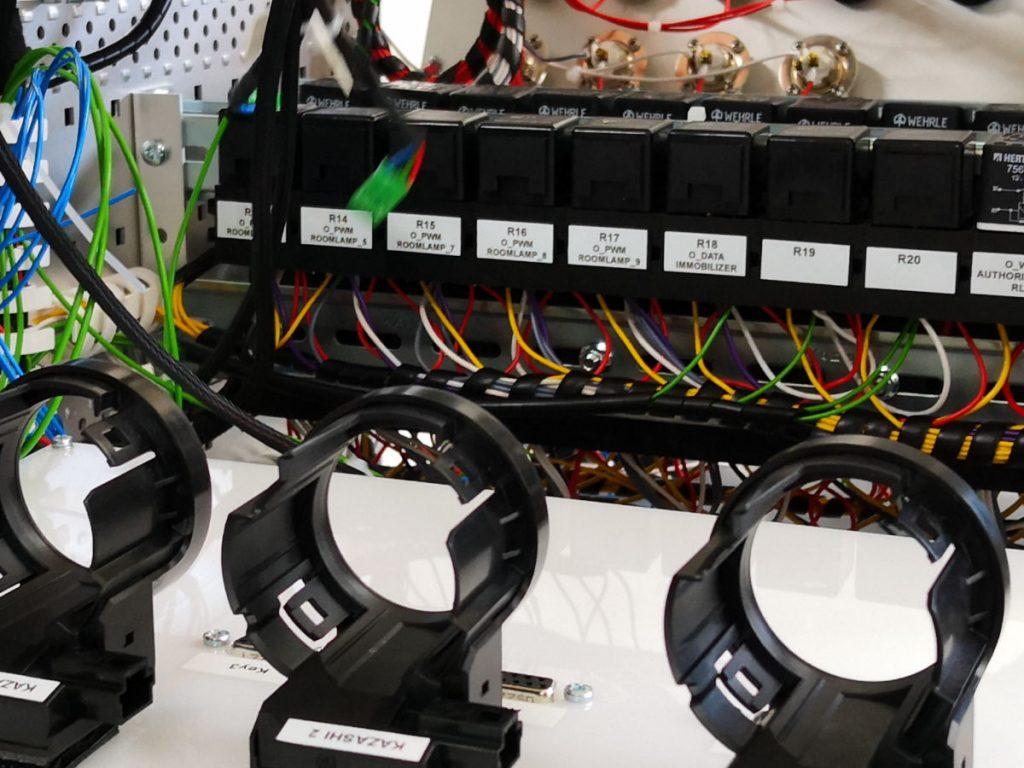 Loadbox Positionierung Antennen im Innenbereich des Prüfstands